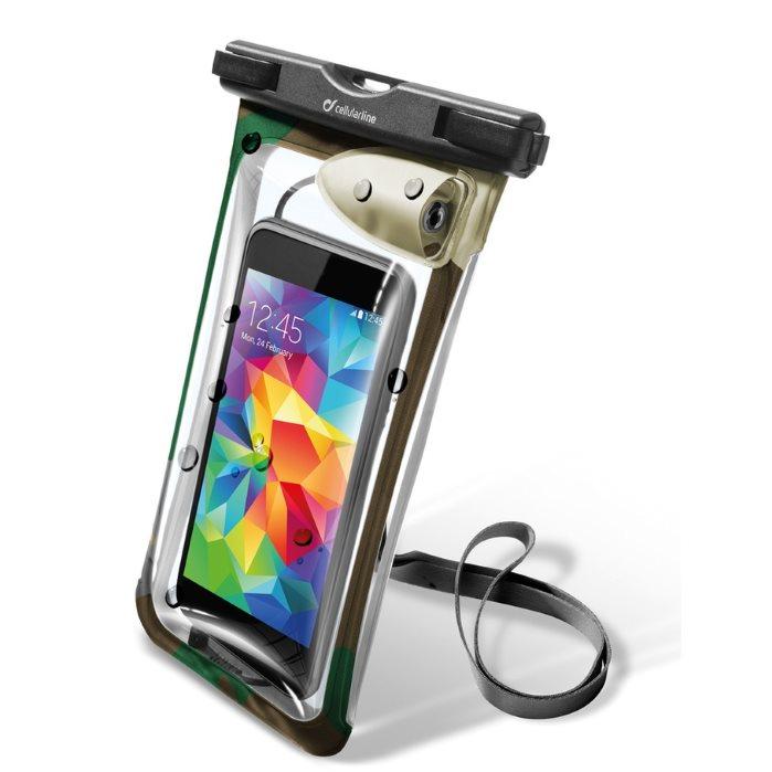 Puzdro vodotesné CellularLine Voyager Music pre Samsung Galaxy S7 Edge - G935F, Green
