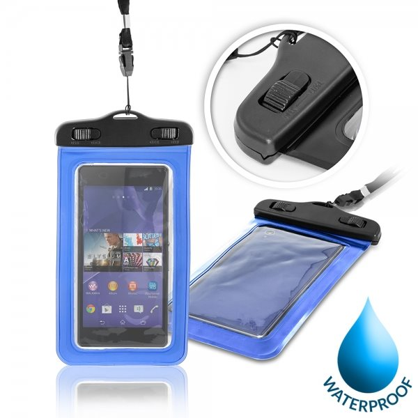 Puzdro WatterProofCase pre Alcatel OneTouch 6043D Idol X+, Blue