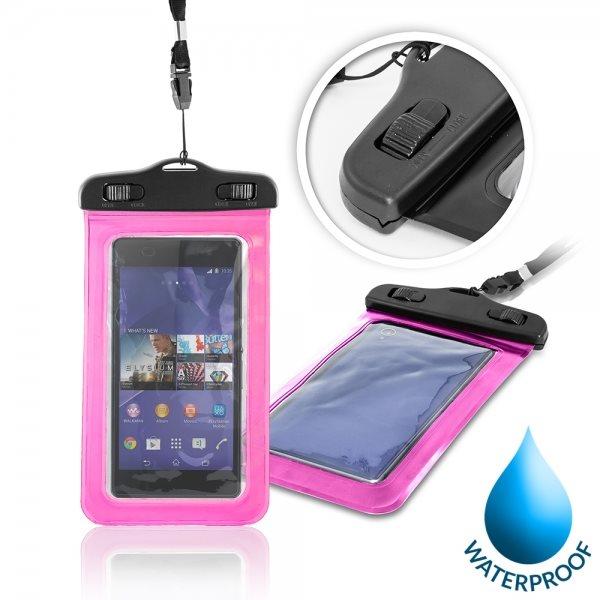 Puzdro WatterProofCase pre Alcatel OneTouch 6043D Idol X+, Pink