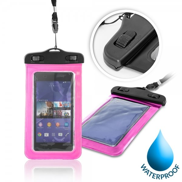 Puzdro WatterProofCase pre Evolveo EasyPhone D2, Pink