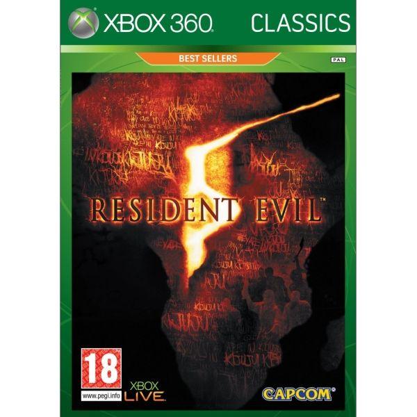 Resident Evil 5 - XBOX 360- BAZÁR (použitý tovar)