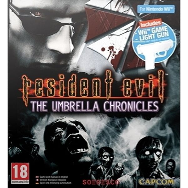Resident Evil: The Umbrella Chronicles + Wii Game Light Gun