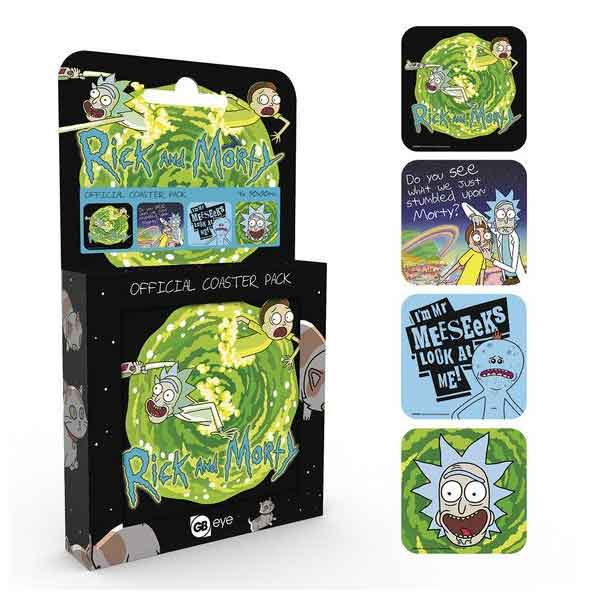 Rick and Morty tácky pod poháre (4-Pack)