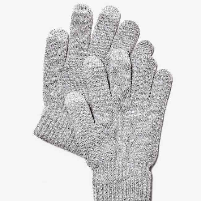 Rukavice na ovládanie dotykového displeja, šedé