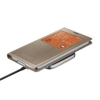 Sada pre bezdrôtové nabíjanie S-view Samsung EP-KG900I pre Samsung Galaxy S5 - G900 a S5 Neo - G903, Gold
