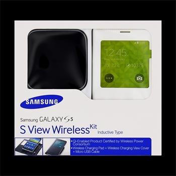 Sada pre bezdrôtové nabíjanie S-view Samsung EP-KG900I pre Samsung Galaxy S5 - G900 a S5 Neo - G903, White