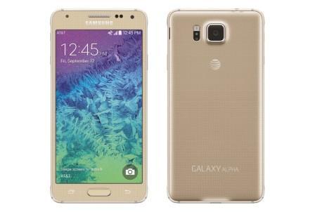 Samsung Galaxy Alpha - G850, 32GB   Gold, Trieda C - použité, záruka 12 mesiacov