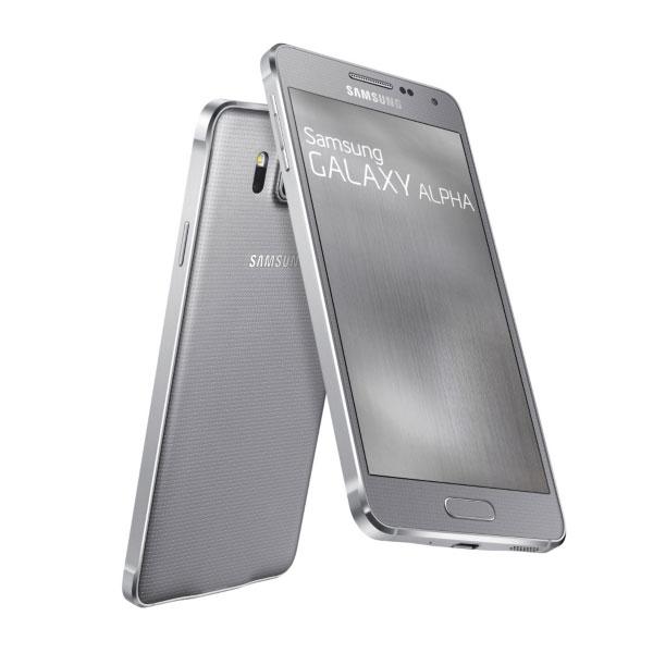 Samsung Galaxy Alpha - G850, 32GB | NEFUNGUJE TOUCH ID | Silver, Trieda C - použité, záruka 12 mesiacov