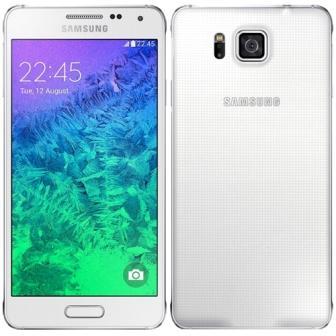 Samsung Galaxy Alpha - G850, 32GB | White, Trieda C - použité, záruka 12 mesiacov