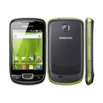 Samsung Galaxy mini - S5570   Lime Green, Trieda A - použité, záruka 12 mesiacov