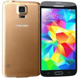Samsung Galaxy S5 - G900, 16GB   Gold, Trieda A - použité, záruka 12 mesiacov