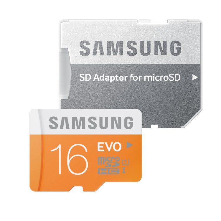 Samsung Micro SDHC EVO 16GB + SD adaptér, Class 10 - rýchlosť 48 MB/s (MB-MP16DA/EU)