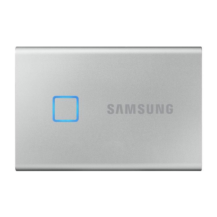 Samsung SSD T7 Touch, 2TB, USB 3.2 - rýchlosť 1050/1000 MB/s (MU-PC2T0S/WW), Silver MU-PC2T0S/WW