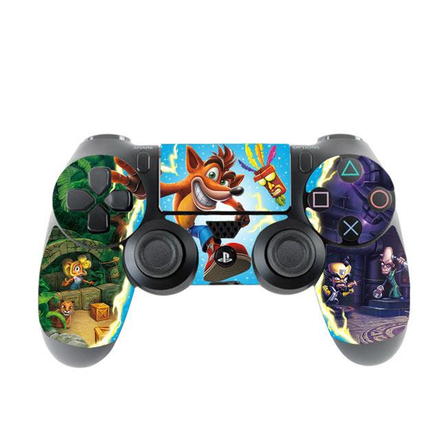 Skin na Dualshock 4 s motívom hry Crash Bandicoot N.Sane Trilogy v3