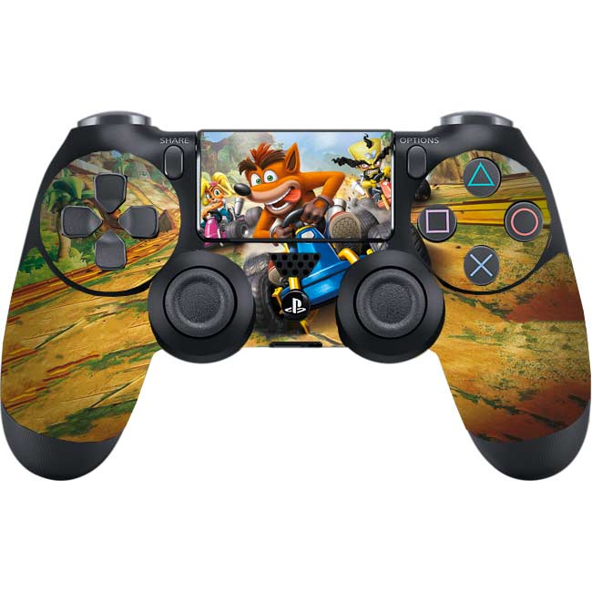 Skin na Dualshock 4 s motívom hry Crash Team Racing Nitro-Fueled