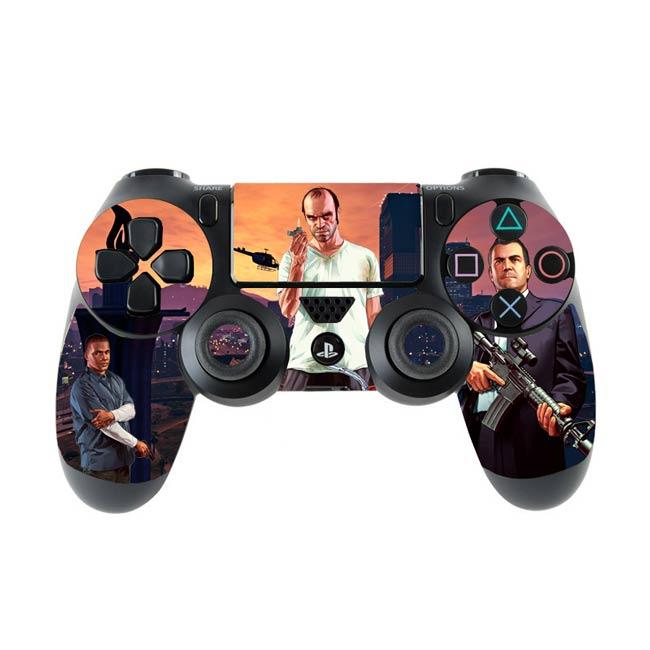 Skin na Dualshock 4 s motívom hry Grand Theft Auto 5 (verzia 6)
