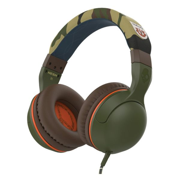 Skullcandy Hesh 2 with Microphone, camo/olive
