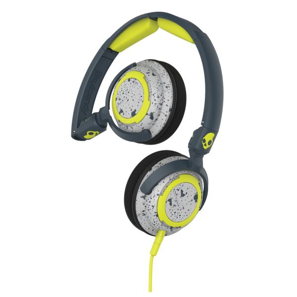 Skullcandy Lowrider 2 with Microphone, dark grey/light grey/hot lime