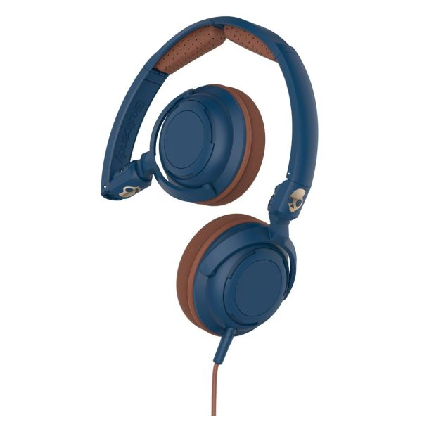 Skullcandy Lowrider 2 with Microphone, navy/brown/copper