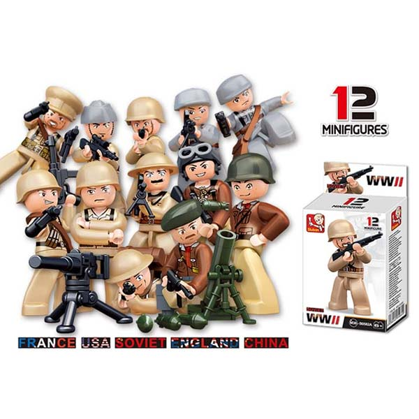 Sluban Soldiers Minifigure Box (WW2)