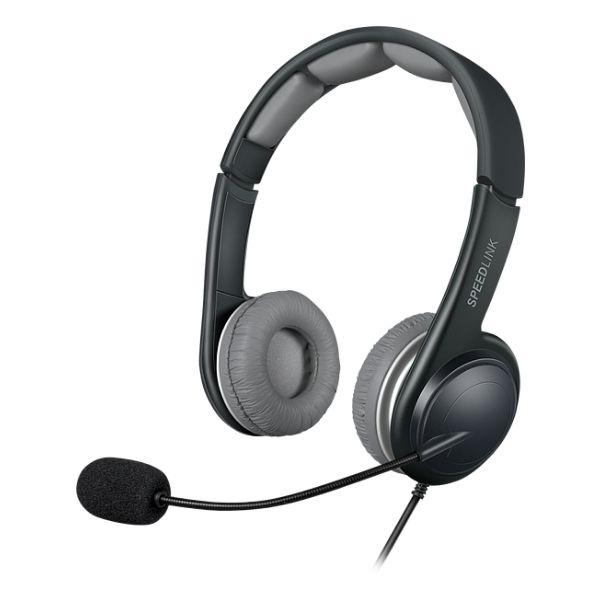Slúchadlá Speedlink Sonid Stereo Headset USB SL-870002-BKGY