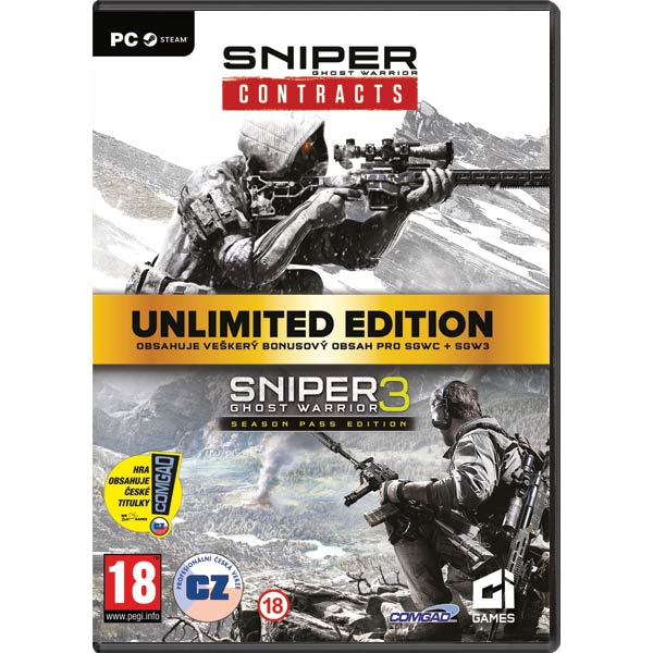 Sniper: Ghost Warrior (Unlimited Edition Bundle) CZ PC Code-in-a-Box