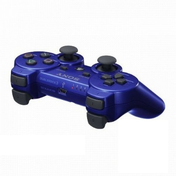 Sony DualShock 3 Wireless Controller, metallic blue