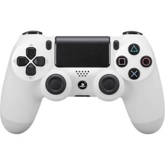 Sony DualShock 4 Wireless Controller, biely - trieda A, ako nový