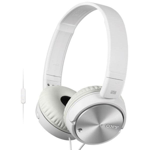 Sony MDR-ZX110NA s handsfree a Noise cancellingom, white MDRZX110NAW