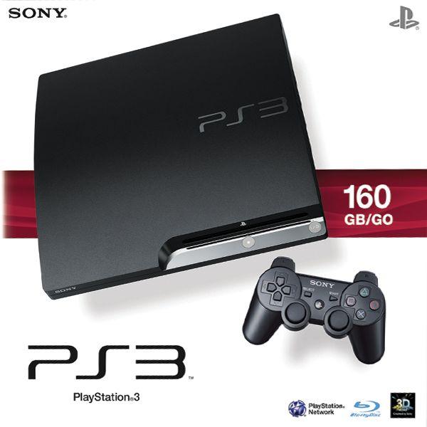 Sony PlayStation 3 slim 160GB,  black - Použitý tovar, zmluvná záruka 12 mesiacov