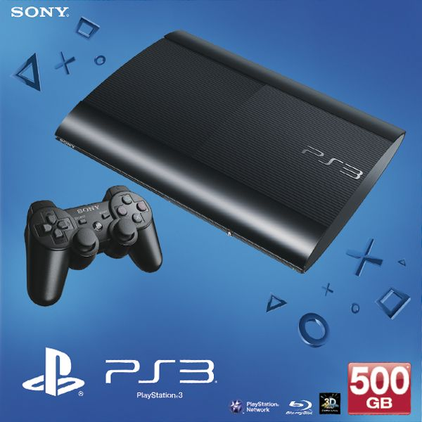 Sony PlayStation 3 500GB, charcoal black