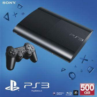 Sony PlayStation 3 500GB super slim,  black - BAZÁR (použitý tovar , zmluvná záruka 12 mesiacov)