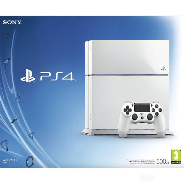 Sony PlayStation 4 500GB, glacier white - BAZÁR (použitý tovar , zmluvná záruka 12 mesiacov)
