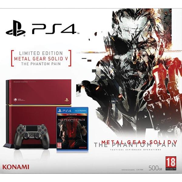 Sony PlayStation 4 500GB + MGS 5: Phantom Pain (Limited Edition) - BAZÁR (použitý tovar , zmluvná záruka 12 mesiacov)