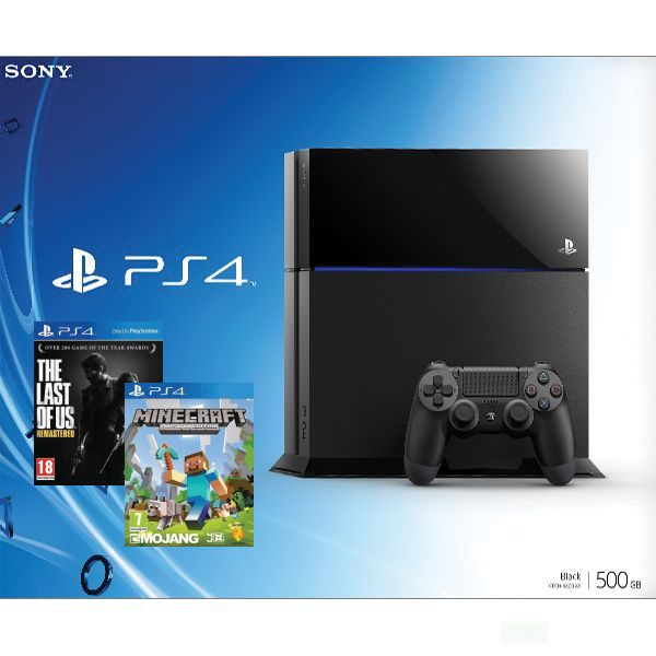 Sony PlayStation 4 500GB + The Last of Us Remastered CZ + Minecraft (PlayStation 4 Edition)