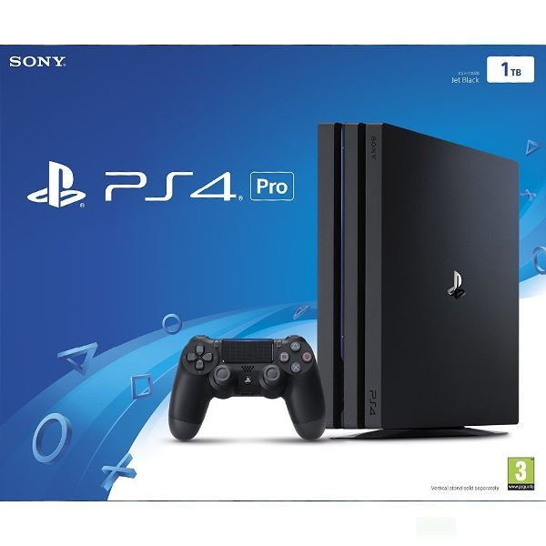 Sony PlayStation 4 Pro 1TB, jet black - BAZÁR (použitý tovar , zmluvná záruka 12 mesiacov)