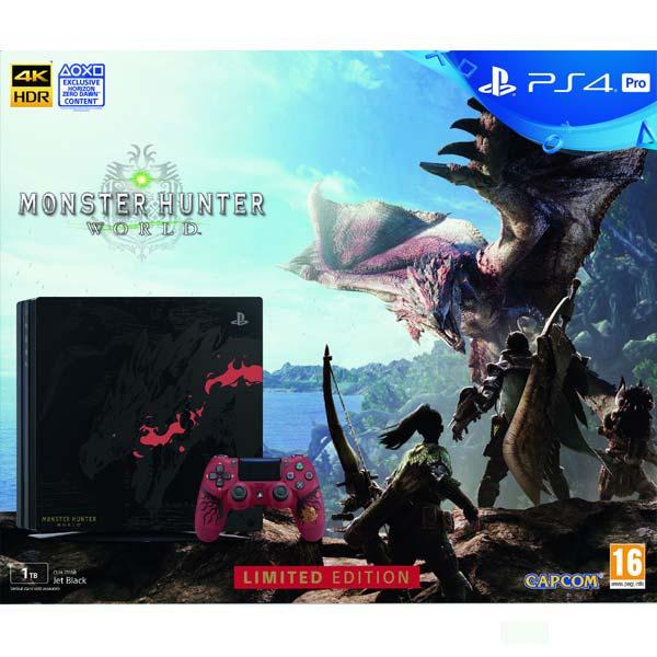 Sony PlayStation 4 Pro 1TB Monster Hunter World (Limited Edition)  - BAZÁR (použitý tovar , zmluvná záruka 12 mesiacov)