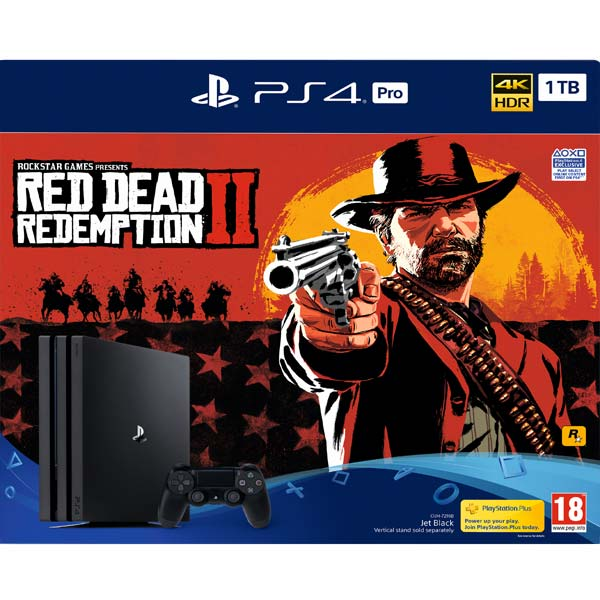 Sony PlayStation 4 Pro 1TB, jet black + Red Dead Redemption 2