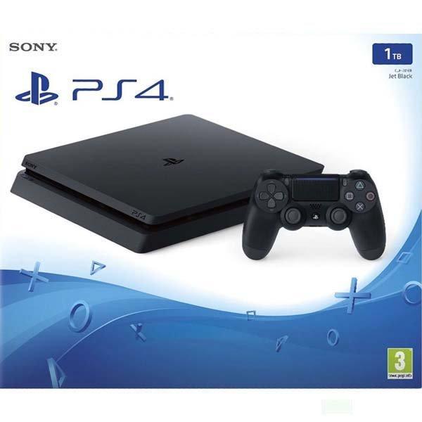 Sony PlayStation 4 Slim 1TB, jet black - Použitý tovar, zmluvná záruka 12 mesiacov