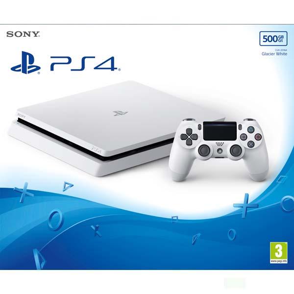 Sony PlayStation 4 Slim 500GB, glacier white - BAZÁR (použitý tovar , zmluvná záruka 12 mesiacov)