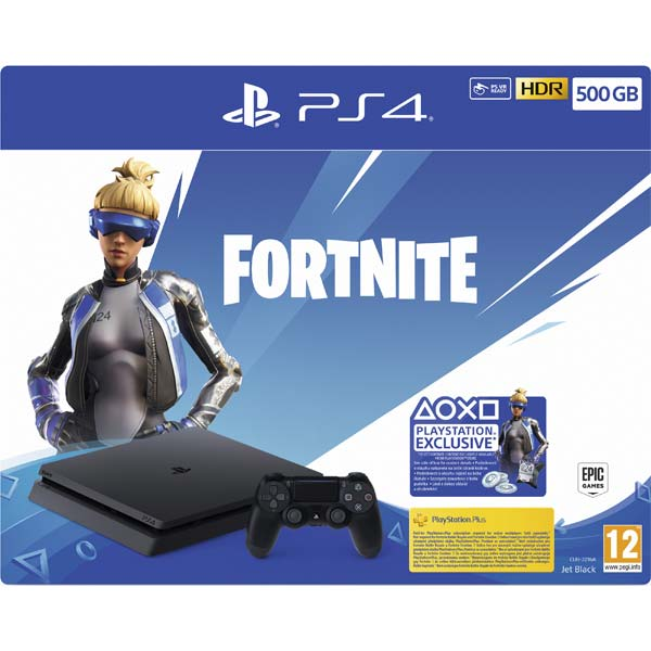 Sony PlayStation 4 Slim 500GB, jet black (Fortnite 2000 V Bucks Neo Versa Bundle)