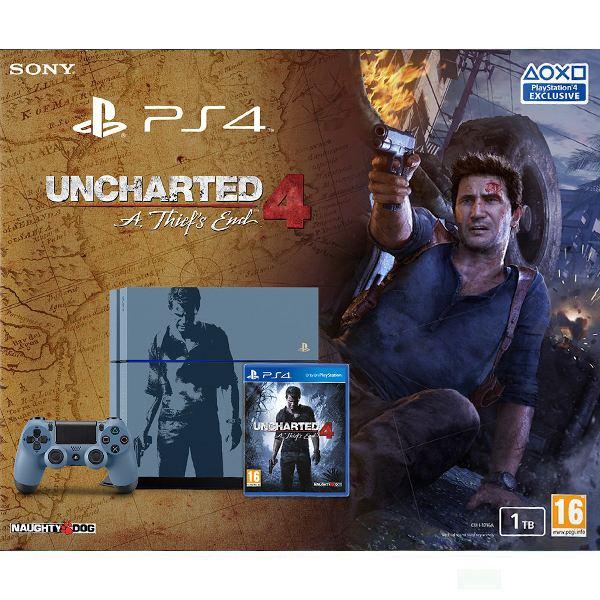 Sony PlayStation 4 1TB: Uncharted 4 Limited Edition - BAZÁR (použitý tovar , zmluvná záruka 12 mesiacov)