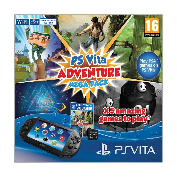Sony PlayStation Vita Adventure Mega Pack + Sony Playstation Vita Memory Card 8GB