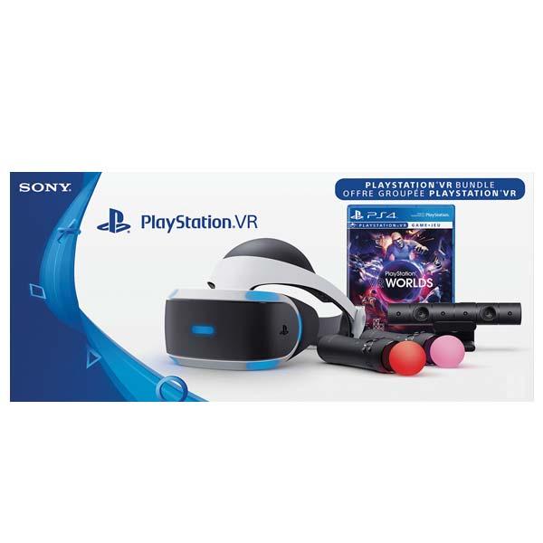 586fffad4 Sony PlayStation VR + Sony PlayStation 4 Camera + Sony PlayStation Move  Twin Pack + VR Worlds