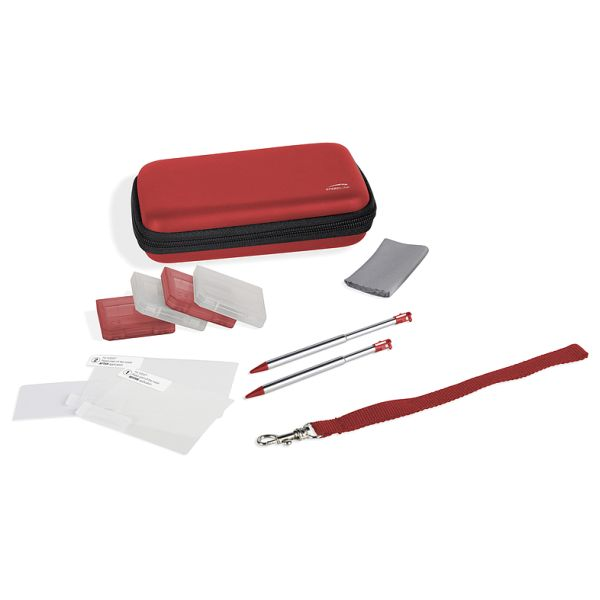 Speed-Link 10-in-1 Starter Kit for 3DS/DSi/DS lite, metallic red