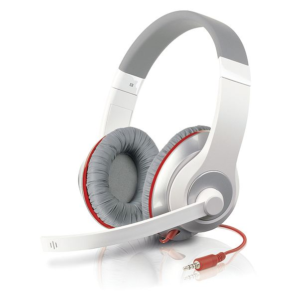 Speed-Link Aux Stereo Headset, white-red