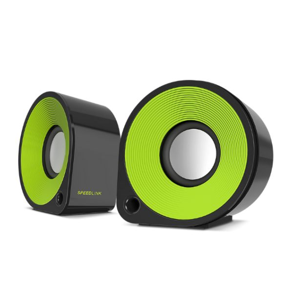 Speed-Link Ellipz Stereo Speakers, black-green