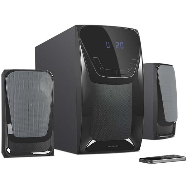 Speed-Link EUFONIA 2.1 Subwoofer System, black