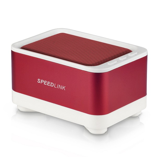 Speed-Link GEOVIS Portable Speaker - Bluetooth, white-red