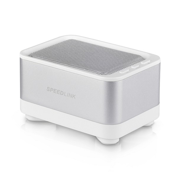 Speed-Link GEOVIS Portable Speaker - Bluetooth, white-silver
